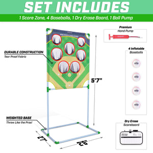 GoSports Pro Pitch Challenge Baseball Toss Game Set | Includes Target, 4 Baseballs, Scoreboard and Case Baseball playgosports.com