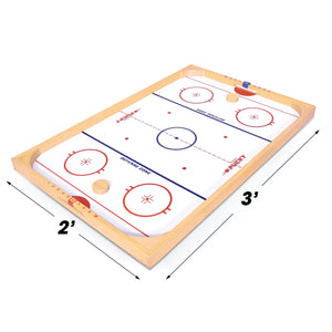 GoSports Ice Pucky Wooden Table Top Hockey Game for Kids & Adults - Includes 1 Game Board, 2 Hockey Sticks & 3 Pucks Pucky playgosports.com
