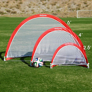 GoSports 6 Foot Portable Pop Up Soccer Goals for Backyard - Kids & Adults - Set of 2 Nets with Agility Training Cones and Carrying Case Soccer Goal playgosports.com