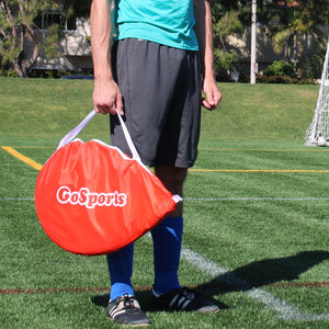 GoSports 2.5 Foot Portable Pop Up Soccer Goals for Backyard - Kids & Adults - Set of 2 Nets with Agility Training Cones and Carrying Case Soccer Goal playgosports.com