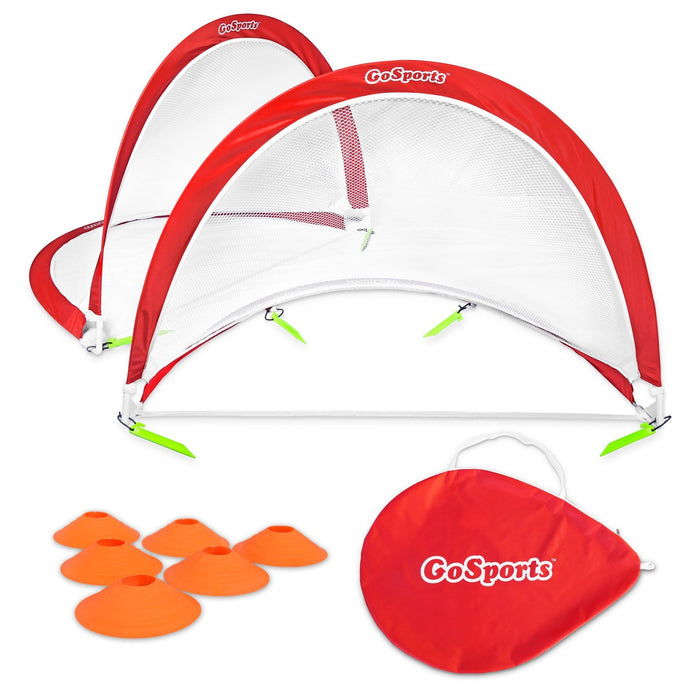 GoSports 4 Foot Portable Pop Up Soccer Goals for Backyard