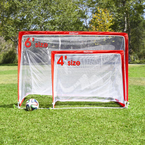 GoSports 4 Foot Portable Pop Up Soccer Goals for Backyard - Kids & Adults - Set of 2 Nets with Agility Training Cones and Carrying Case Soccer Goal playgosports.com