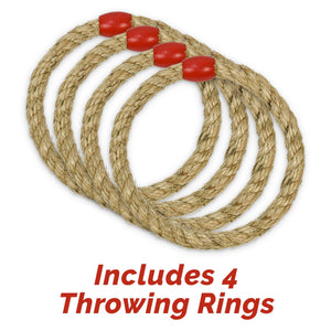 GoSports Premium Wooden Ring Toss Game with Carrying Case, Great for all Ages Ring Toss playgosports.com