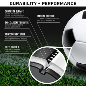 GoSports Classic Soccer Ball - Size 5 - with Premium Pump Soccer Ball playgosports.com