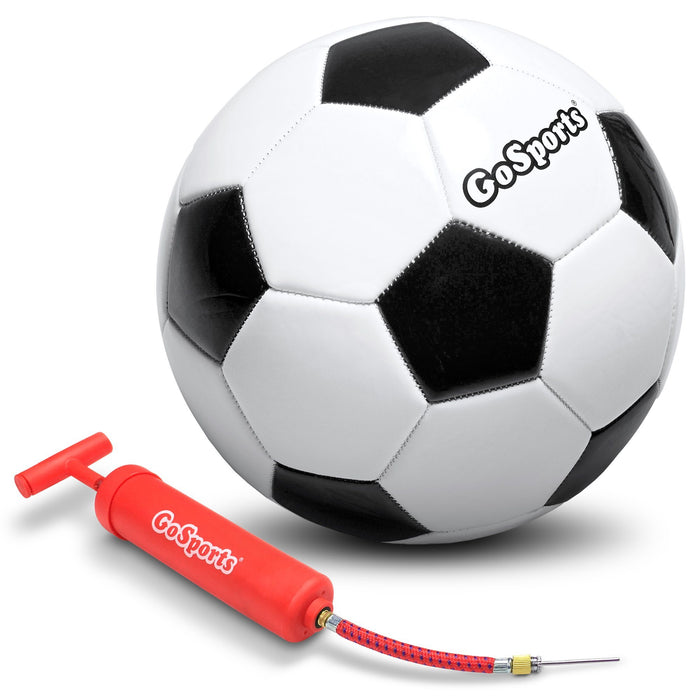 GoSports Classic Soccer Ball - Size 4 - with Premium Pump