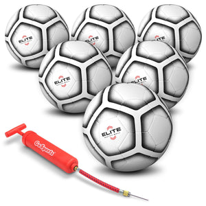 GoSports Elite Match Soccer Balls - 6 Pack Soccer Ball playgosports.com