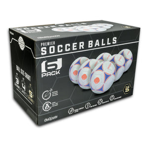 GoSports Premier Soccer Ball with Premium Pump 6 Pack, Size 3 Soccer Ball playgosports.com