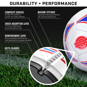 GoSports Premier Soccer Ball with Premium Pump 6 Pack, Size 5 Soccer Ball playgosports.com