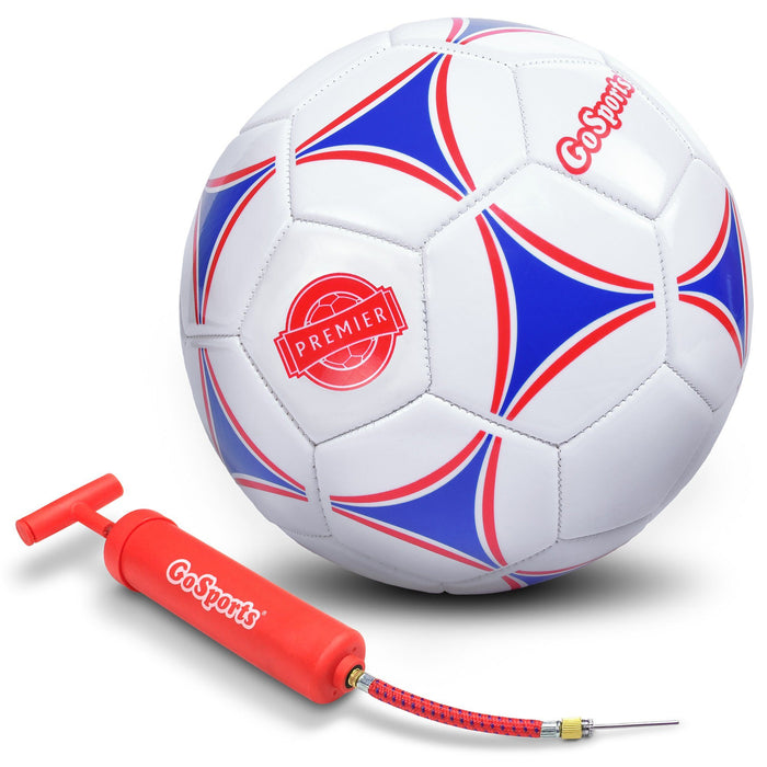 GoSports Premier Soccer Ball with Premium Pump, Size 4