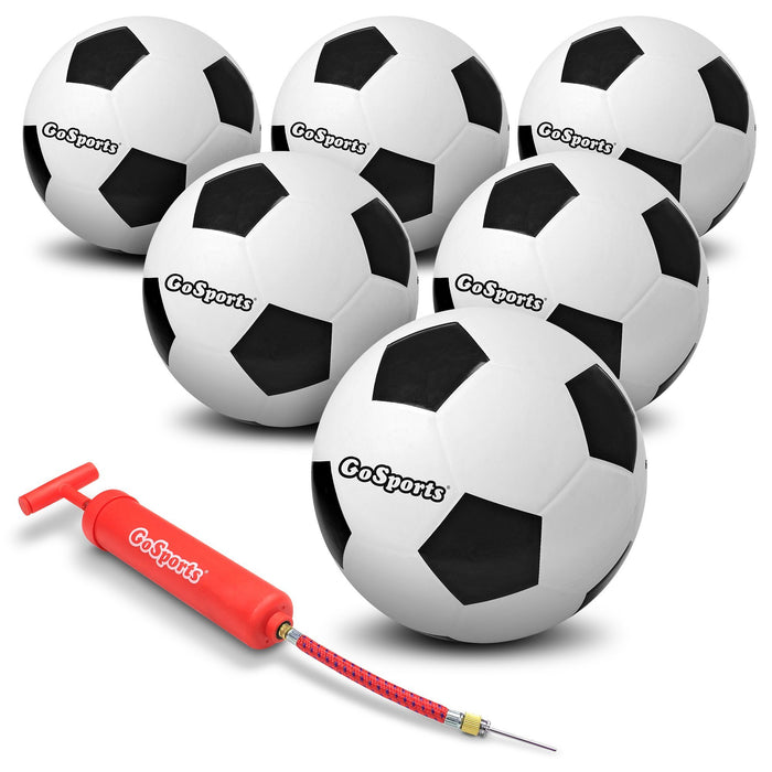 GoSports Size 4 Playground Rubber Soccer Ball 6 Pack