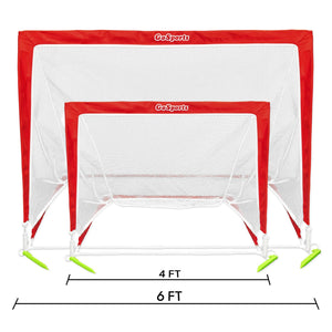 GoSports 4' Size Portable Soccer Goal - Includes 1 Goal Soccer Goal playgosports.com
