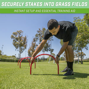 GoSports Pass Thru Soccer Training Arches for Grass | Great for Passing, Footwork and Kicking Drills for All Skill Levels Soccer playgosports.com