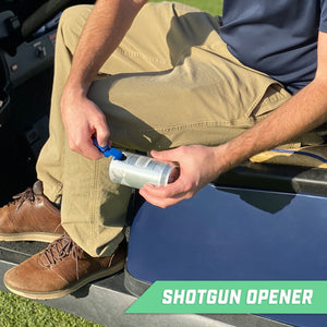 GoSports Ultimate Beer Shotgun Opener and Golf Divot Tool - 6 Pack Multipurpose Divot Tool, Blue Golf playgosports.com
