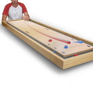 GoSports Shuffleboard and Curling 2 in 1 Board Game Shuffle Board playgosports.com
