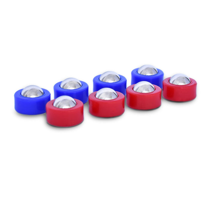 GoSports Shuffle Board Mini Roller Replacement Set of 8 Rollers