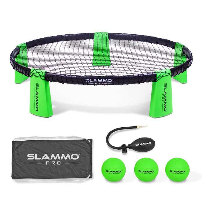 GoSports SLAMMO PRO Game Set - New and Improved PRO Set with 3 PRO Balls, Pump and Carrying Case