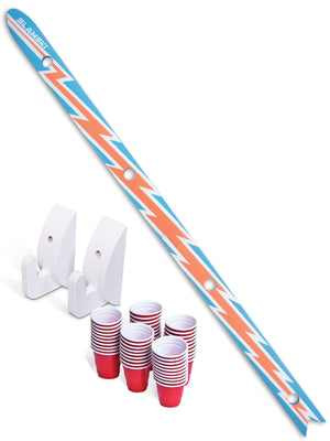 GoSports Slamski | Retro 4 Person Drinking Ski with 50 Plastic Shot Glasses Beach Chair playgosports.com