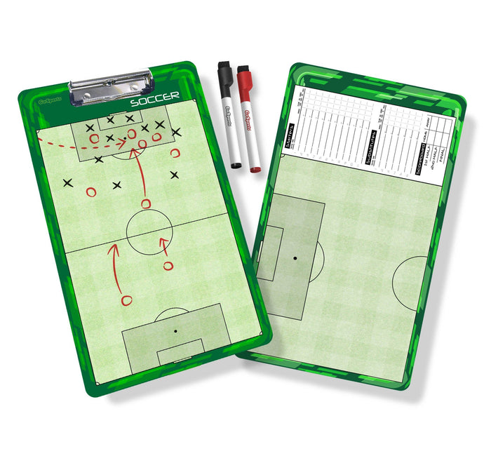 GoSports Soccer Coaches Boards - 2 Sided Premium Dry Erase Clipboards