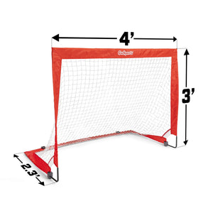 GoSports Hockey Street Set | Includes Pop-Up Goal and 2 Hockey Sticks with 2 Hockey Street Balls Team Sports, Golf playgosports.com