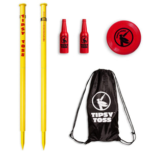 GoSports Tipsy Toss Game Set | Flying Disc Bottle Drop Yard Game Washer Toss playgosports.com