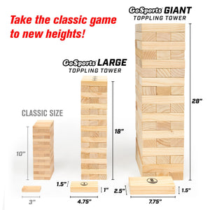 GoSports Giant Toppling Tower with Bonus Rules Tumbling Tower playgosports.com