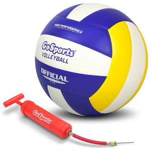 GoSports Indoor Competition Volleyball - Made From Synthetic Leather - Includes Ball Pump - Regulation Size and Weight Volleyball playgosports.com