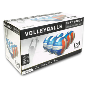 GoSports Soft Touch Recreational Volleyball 6 Pack | Regulation Size for Indoor or Outdoor Play | Includes Ball Pump & Carrying Bag Volleyball playgosports.com