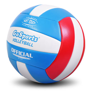GoSports Soft Touch Recreational Volleyball | Regulation Size for Indoor or Outdoor Play | Includes Ball Pump Volleyball playgosports.com