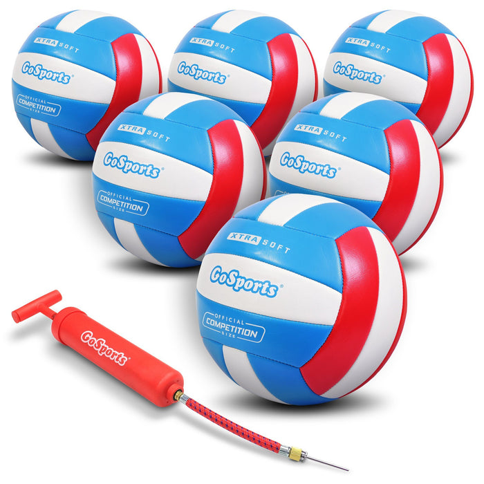 GoSports Soft Touch Recreational Volleyball 6 Pack