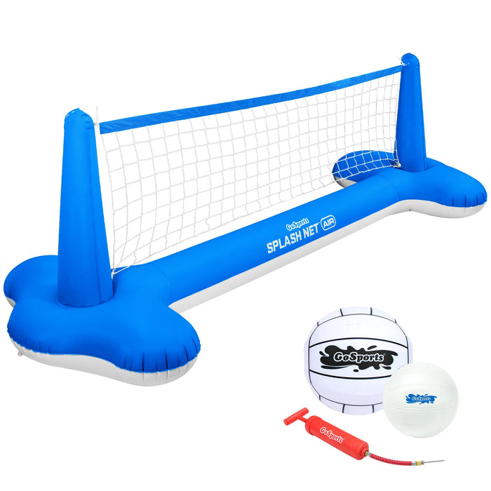 GoSports Splash Net Air, Inflatable Pool Volleyball Game – Includes Floating Net, Water Volleyballs and Ball Pump