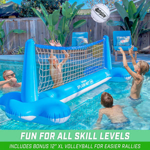 GoSports Splash Net Air, Inflatable Pool Volleyball Game – Includes Floating Net, Water Volleyballs and Ball Pump Volleyball playgosports.com
