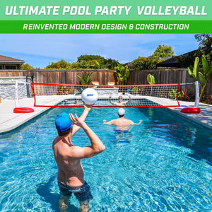 GoSports Splash Net PRO Pool Volleyball Net | Includes 2 Water Volleyballs and Pump Volleyball playgosports.com