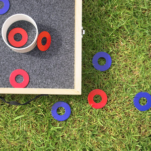 GoSports Powder Coated Metal Replacement Washer Set - Powder Coated Steel - Set of 8 Washers Washer Toss playgosports.com