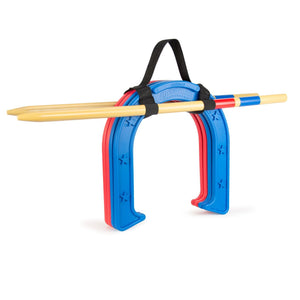 GoSports Giant Horseshoes Set | Made from Durable Plastic with Wooden Stakes Horseshoes playgosports.com