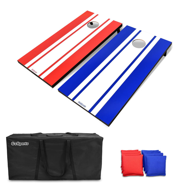 GoSports Classic Regulation Size Cornhole Set Includes 8 Bags, Carry Case & Rules