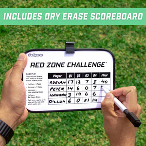 GoSports Red Zone Challenge Football Toss Game | Includes Target, 4 Footballs, Scoreboard and Case Football playgosports.com