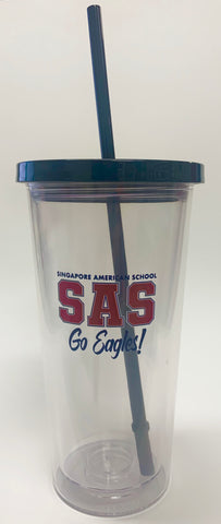 Go Eagles! Tumbler with Straw