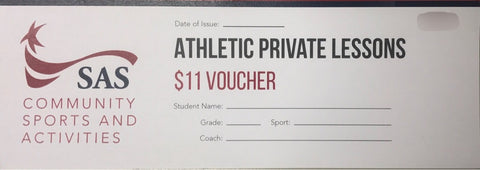Athletic Private Lesson Voucher