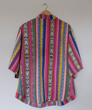 Load image into Gallery viewer, Corte fabric transformed into multicolour jacket with jaspe details