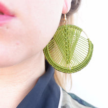 Load image into Gallery viewer, Mika Macrame Earrings in Olive