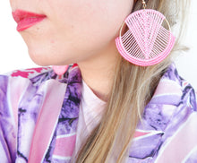 Load image into Gallery viewer, Mika Macrame Earrings in Pink