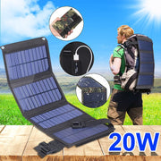 Portable 20W Solar Panel Folding Solar Cell Charger
