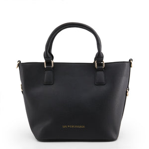 Trussardi - 76BTB01 Black Leather Handbag