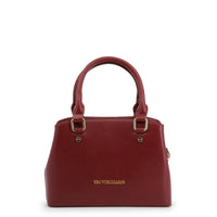 Trussardi - 76BTBQAL03 Leather Tote, Black, Blue, Red, Brown