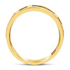 14K Yellow Gold Geometric Tapered Band