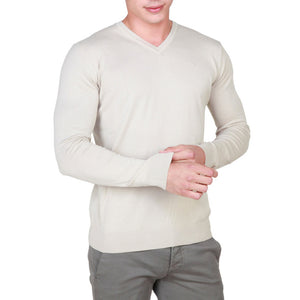 Trussardi - 32M03INT53 V-neck Sweater, White or Grey