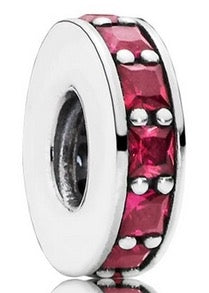 Pandora 791724SRU Synthetic Ruby Eternity Spacer Retired