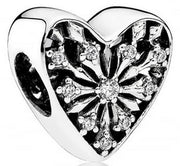 Pandora 791996CZ Frosted Heart Charm