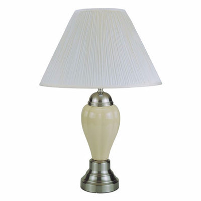 Traditional Style Table Lamp, Set of 6, Ivory