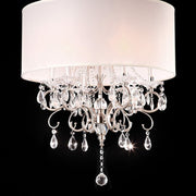 Traditional Ceiling Lamp, White and Chrome